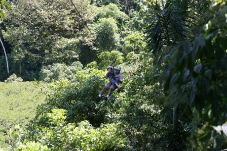 Ziplining over Costa Rican Rainforest!!